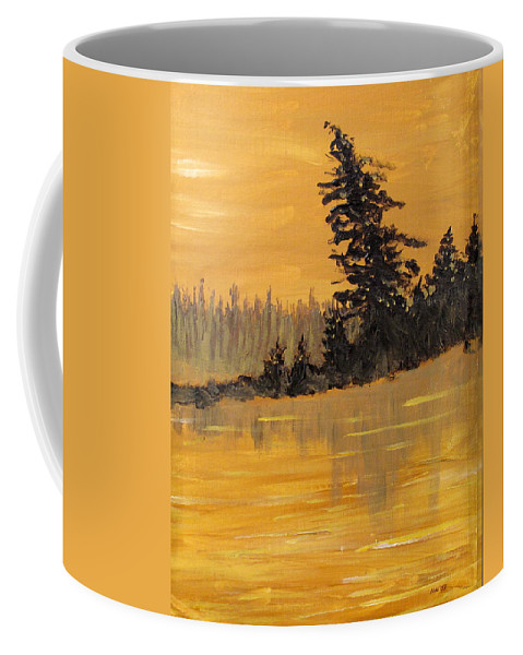 Northern Ontario Coffee Mug featuring the painting Northern Ontario Three by Ian MacDonald