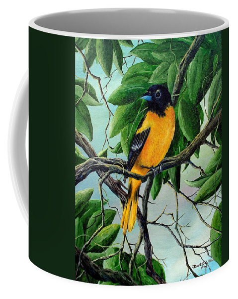Oriole Coffee Mug featuring the painting Northern Oriole by David G Paul