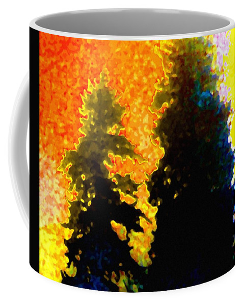 Abstract Coffee Mug featuring the digital art Northern Sunrise by Will Borden