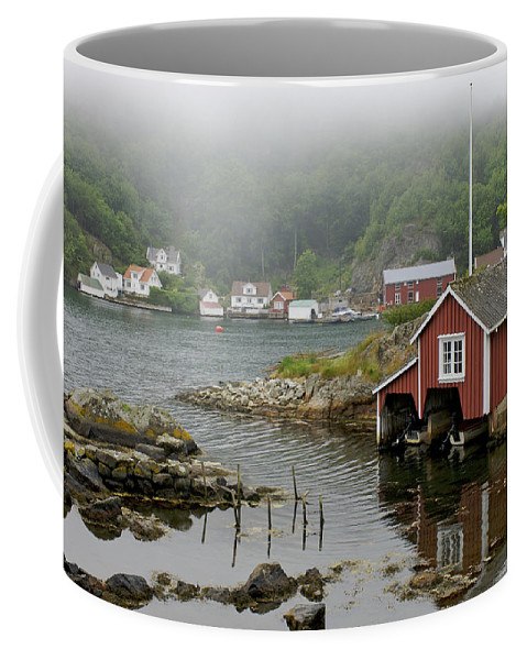 Nobody Coffee Mug featuring the photograph Norway, Fishing Village by Keenpress