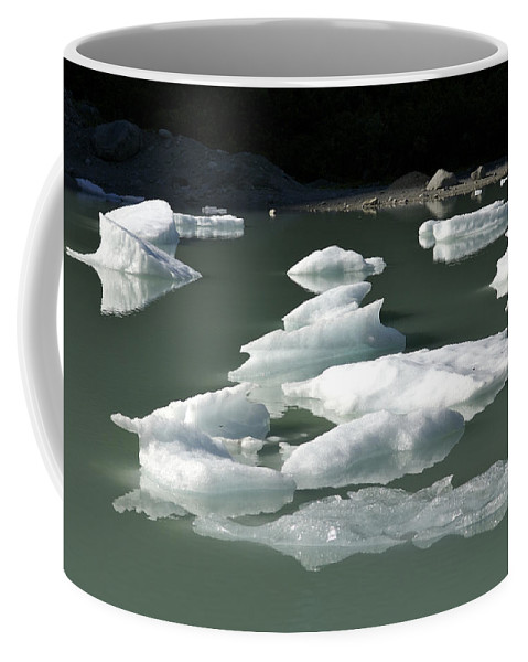 Nobody Coffee Mug featuring the photograph Norway, Iceberg Floating On Water by Keenpress