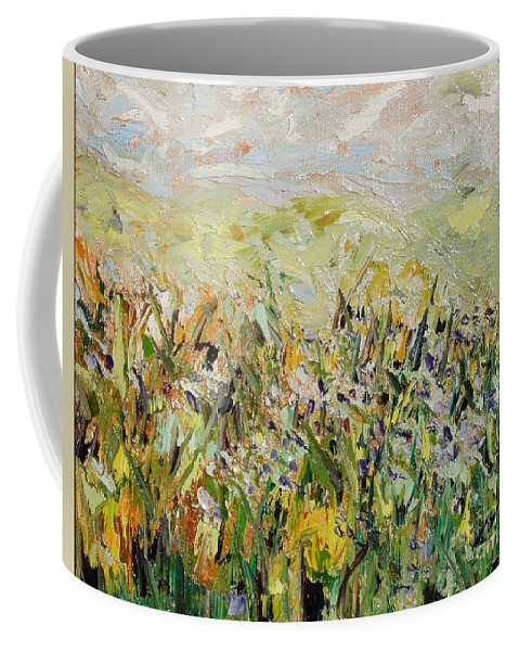 Field Paintings Coffee Mug featuring the painting Nose Hill by Seon-Jeong Kim