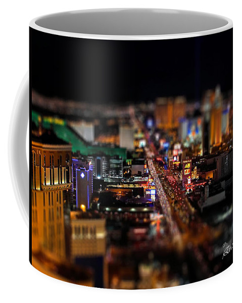 Las Vegas Coffee Mug featuring the photograph Not Everything Stays In Vegas - Tiltshift by Ericamaxine Price