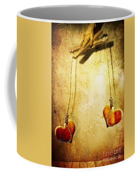 Puppeteer Coffee Mug featuring the painting Not Meant To Be... by Jacky Gerritsen