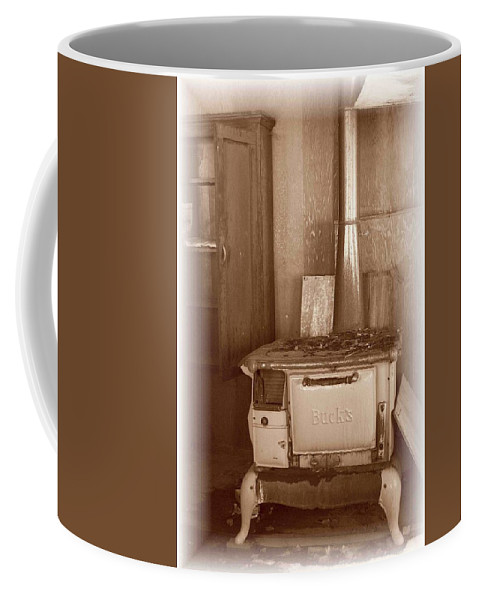 Stove Coffee Mug featuring the photograph Not Much Cookin - Unionville Nv by Nelson Strong