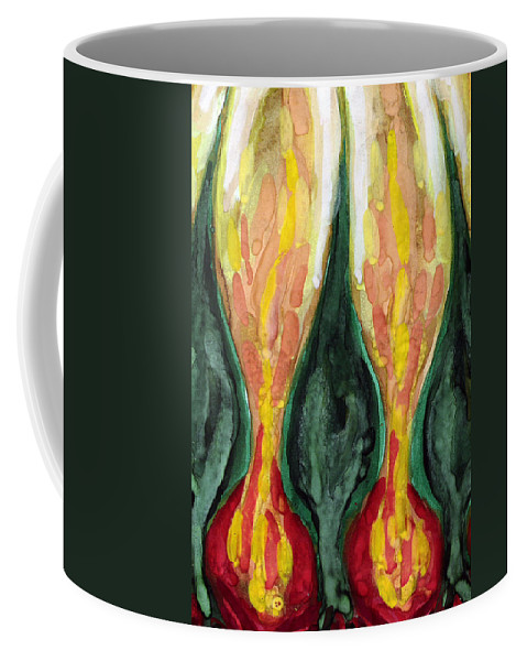 Colour Coffee Mug featuring the painting Not So by Wojtek Kowalski