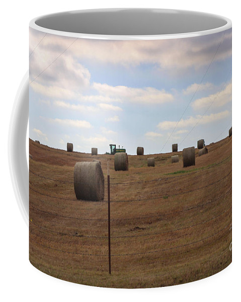 Field Coffee Mug featuring the photograph Nothin' Runs Like A Deer by Laura Deerwester