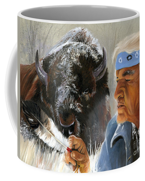 Southwest Art Coffee Mug featuring the painting Nothing Is Ever Forgotten by J W Baker