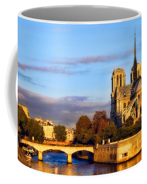 Notre Dame Coffee Mug featuring the photograph Notre Dame by Mick Burkey