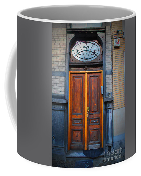 Brussels Coffee Mug featuring the photograph Nouveau Door by Jost Houk