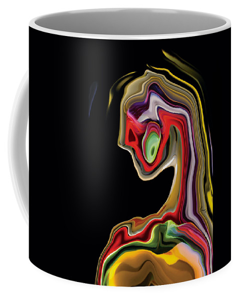 Abstract Coffee Mug featuring the digital art Novera by Rabi Khan