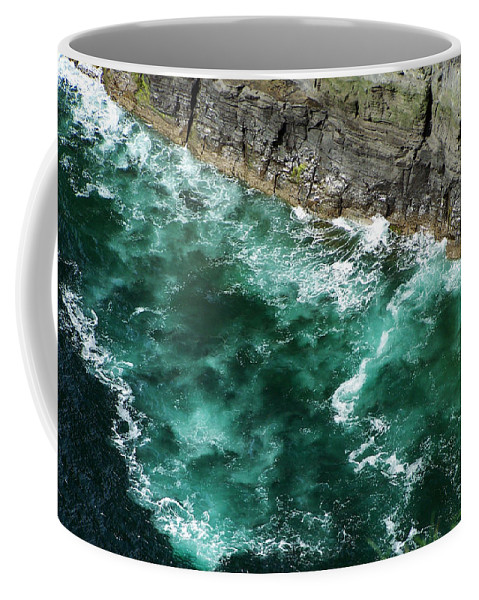 Irish Coffee Mug featuring the photograph Nowhere To Go Cliffs Of Moher Ireland by Teresa Mucha