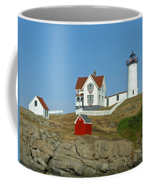 Nubble Coffee Mug featuring the photograph Nubble Light by Margie Wildblood