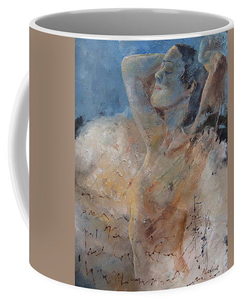 Nude Coffee Mug featuring the painting Nude 0508 by Pol Ledent