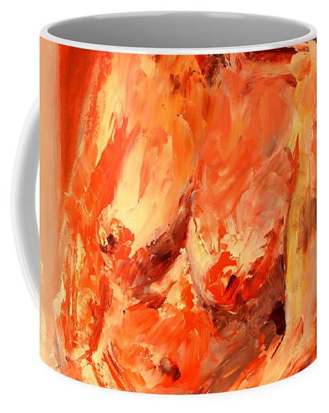 Australia Coffee Mug featuring the painting Nude 1.0 by Giro Tavitian