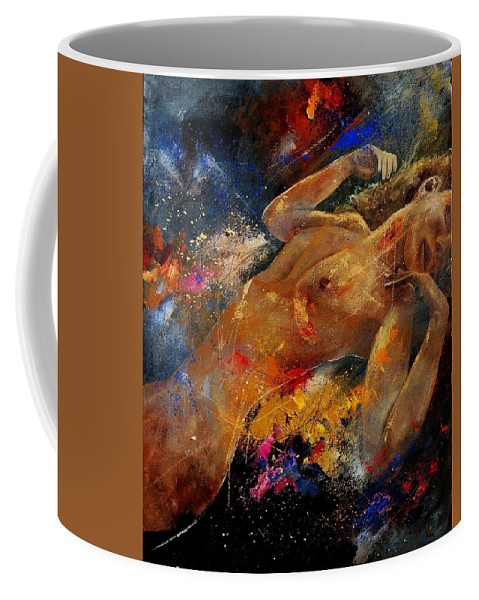 Nude Coffee Mug featuring the painting Nude 67 0407 by Pol Ledent