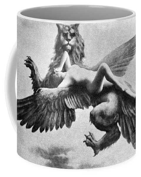 Coffee Mug featuring the painting Nude And Griffin, 1890s by Granger