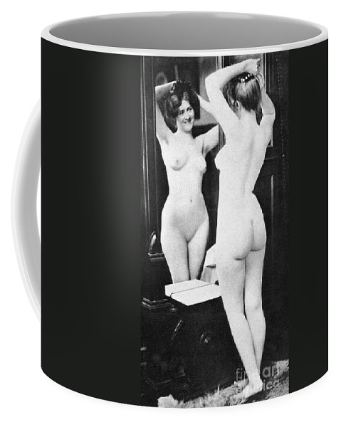 Coffee Mug featuring the painting Nude And Mirror, 1902 by Granger