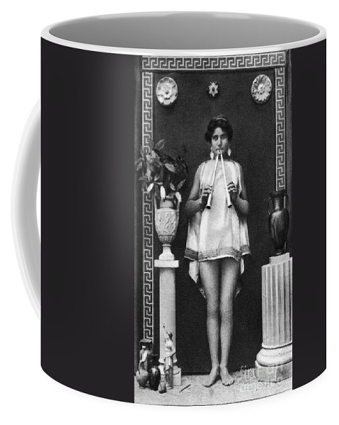 Coffee Mug featuring the painting Nude As Ancient Musician by Granger