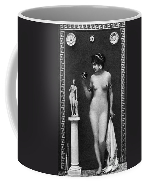Coffee Mug featuring the painting Nude As Aphrodite, C1900 by Granger