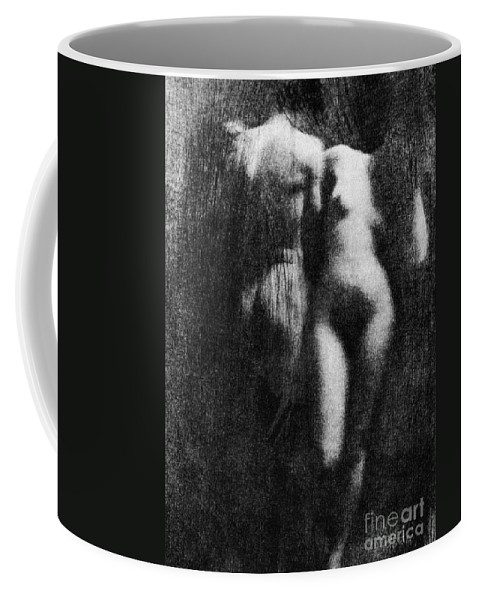 1910 Coffee Mug featuring the photograph Nude Couple, 1910 by Granger