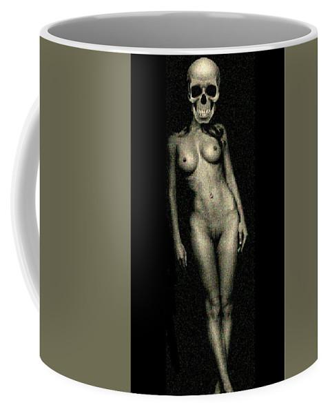 Nudeart Coffee Mug featuring the digital art Nude Death 8 by Mark Bradley