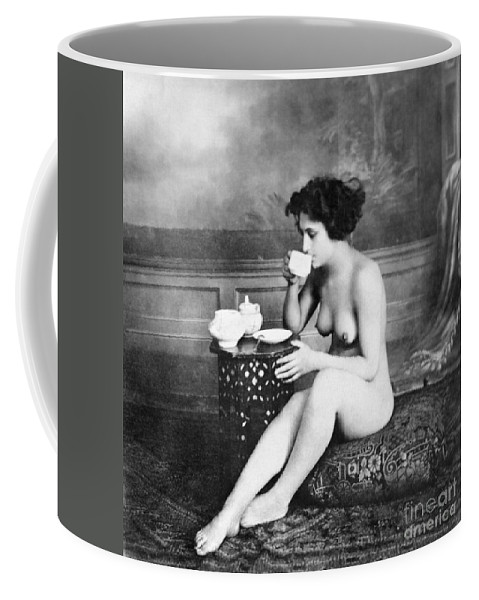 19th Century Coffee Mug featuring the painting Nude Drinking Tea, 19th Ct by Granger