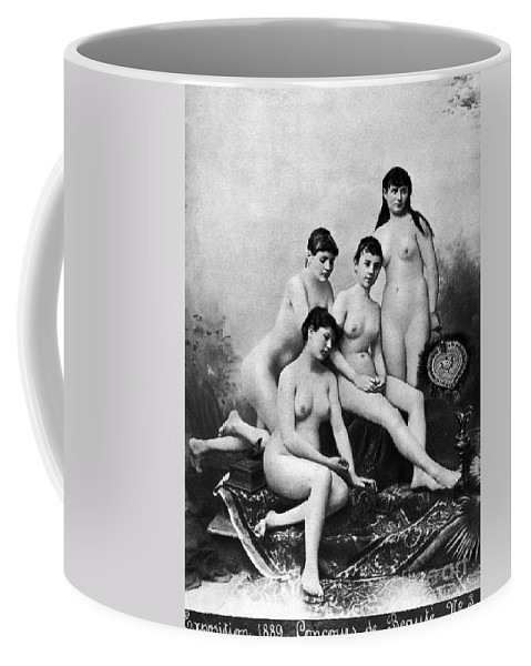1889 Coffee Mug featuring the photograph Nude Group, 1889 by Granger