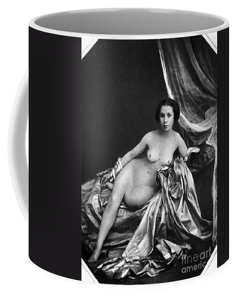 Coffee Mug featuring the painting Nude Posing, 1855 by Granger