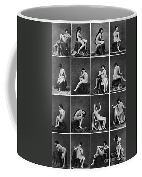 Coffee Mug featuring the painting Nude Posing, C1875 by Granger