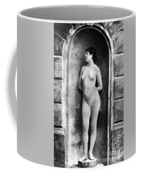 Coffee Mug featuring the painting Nude Posing, C1885 by Granger