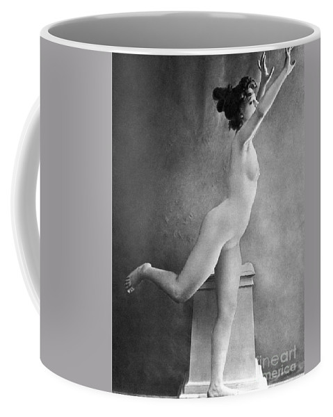 1900 Coffee Mug featuring the photograph Nude Posing, C1900 by Granger