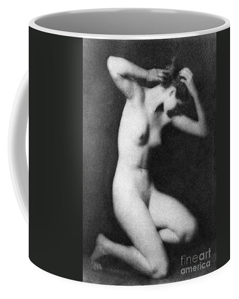 1910 Coffee Mug featuring the photograph Nude Posing, C1910 by Granger