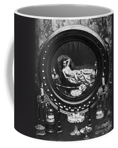 1860 Coffee Mug featuring the photograph Nude Reflected In Mirror by Granger