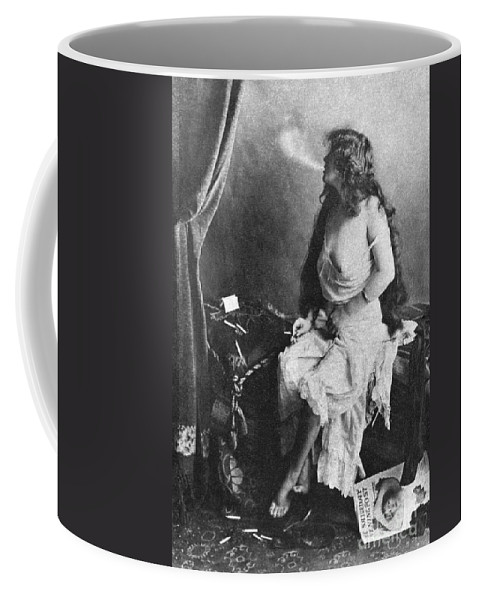 Coffee Mug featuring the painting Nude Smoking, 1913 by Granger