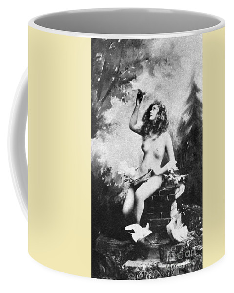 Coffee Mug featuring the painting Nude With Birds, 1897 by Granger