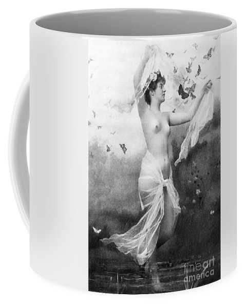1900 Coffee Mug featuring the painting Nude With Butterflies by Granger