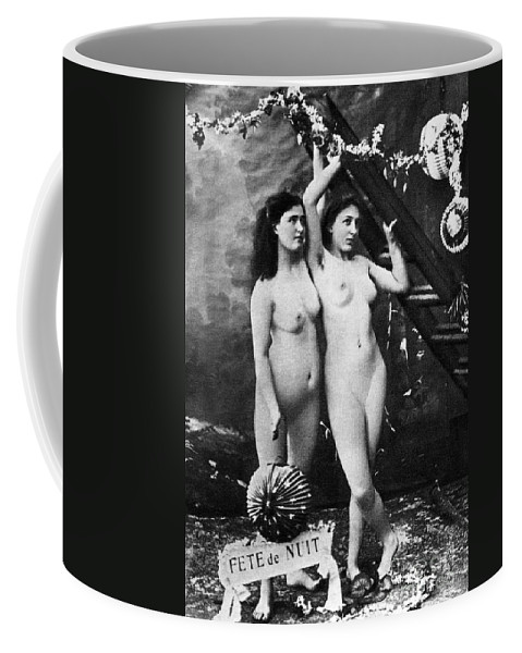 1900 Coffee Mug featuring the photograph Nudes At Festival, C1900 by Granger