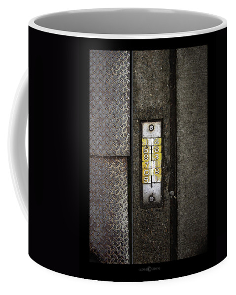 Numbers Coffee Mug featuring the photograph Numbers On The Sidewalk by Tim Nyberg