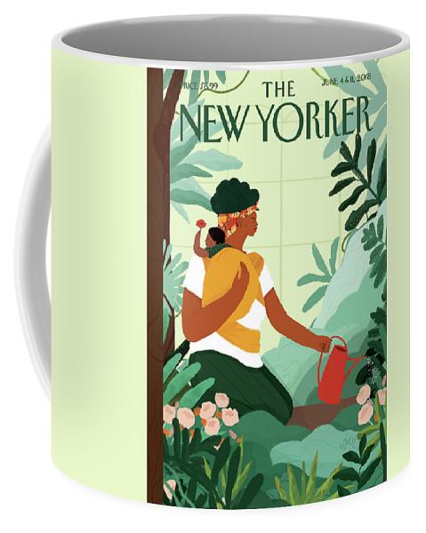 Nurture Coffee Mug featuring the painting Nurture by Loveis Wise