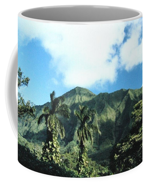 1986 Coffee Mug featuring the photograph Nuuanu Pali by Will Borden