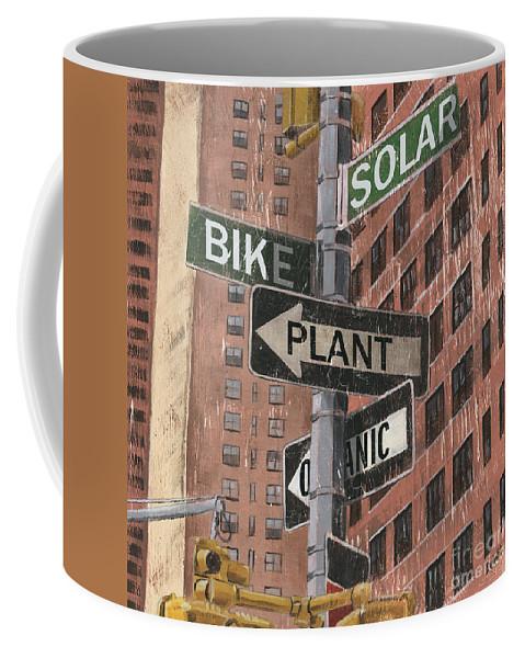 Vintage Coffee Mug featuring the painting NYC Broadway 2 by Debbie DeWitt