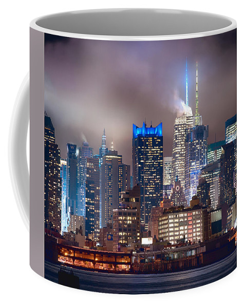 New York City Coffee Mug featuring the photograph Nyc Fog by Rospotte Photography