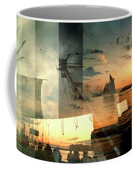Seascape Coffee Mug featuring the photograph Nyc Harbor by John Emilson