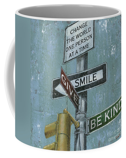 Vintage Coffee Mug featuring the painting NYC Inspiration 1 by Debbie DeWitt