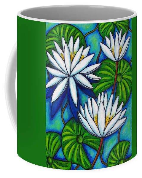 Lily Coffee Mug featuring the painting Nymphaea Blue by Lisa Lorenz