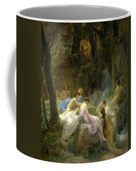 Charles Francois Jalabert Coffee Mug featuring the painting Nymphs Listening To The Songs Of Orpheus by Charles Francois Jalabert