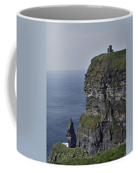 Irish Coffee Mug featuring the photograph O Brien's Tower At The Cliffs Of Moher Ireland by Teresa Mucha