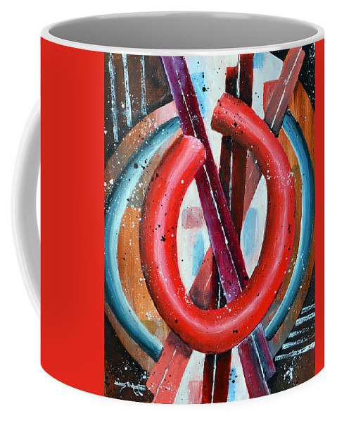 O Coffee Mug featuring the painting O by James Pinkerton