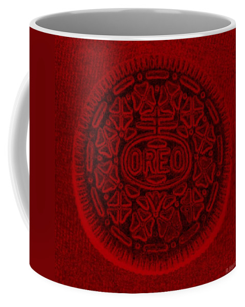 Oreo Coffee Mug featuring the photograph O R E O In Red by Rob Hans
